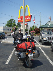 breakfast just before entering the parkway
