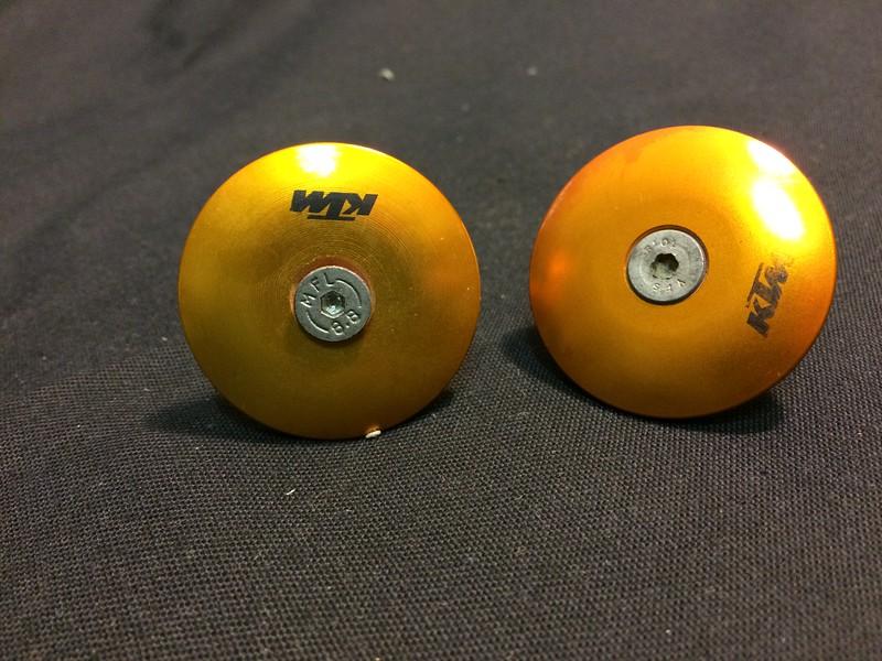 KTM Hard Parts Swingarm Bolt Cover Set