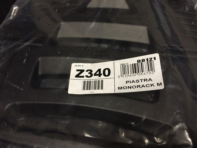 Givi Z340 Monolock plate for FL-series Monorack topracks (aluminum)