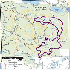 Paul Bunyan Trail Ride Oct 2016