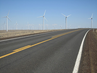 Wind farms just south of Wasco, OR
