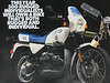 """This is the 1988 BMW white and blue magazine ad. I not sure how many """"Albino Bumble Bees"""" made in 1988-1989 or worldwide. Anyone else have one?<br /> <br /> <br />                 Quote:<br />                 Originally Posted by wuli959 View Post<br />                 different bikes or do you change gas tanks like purses?<br /> <br />                 (love your trip reports)<br />                 Same bike, different accessories. The bike is a 1988 R100GS like this one:<br /> The White/Blue tank, seat and fairing are in perfect shape, and I am trying to keep it that way. The black tank is a dented up salvage R65 tank/tank. I also have solo and Corbin seat. I have a buddy who lent me some rims, so in minutes I go from street bike tires to dual sport bike rubber. The R65 tank/seat is not a perfect fit, but with some penny tech modifications (bungee cords) it is workable."""