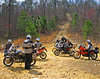Taking a break during a dual sport ride in the Talladega National Forest.