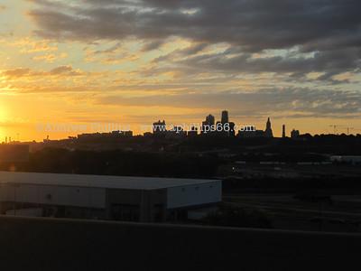 Kansas City at sunrise.