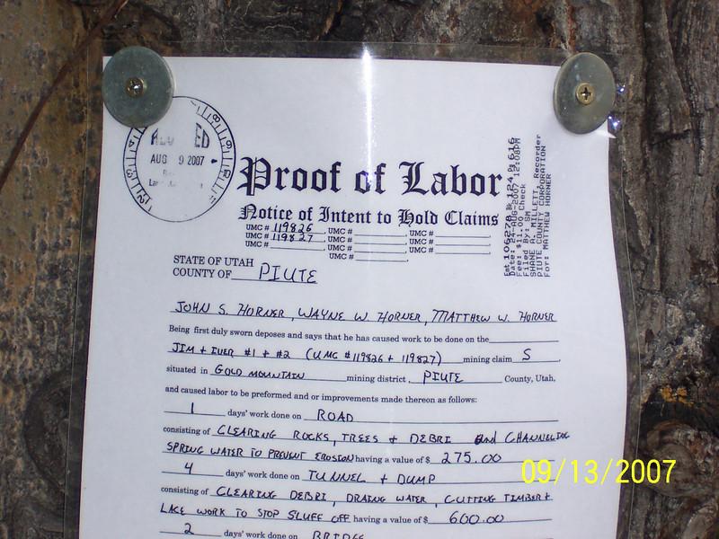 Active gold mine claim