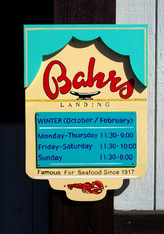Bahr's hours for the winter