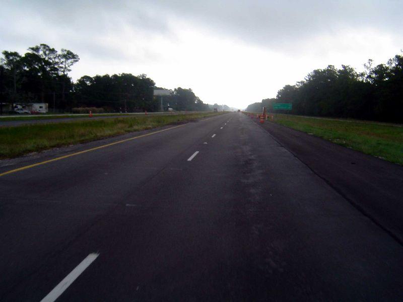 Headed east on I-10