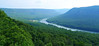 View from Snooper's Rock looking north. You can just make out a bit of River Canyon Road to the left of the curve in the Tennessee River.