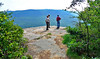 Joe, Brent, Mike check out the view from Snooper's Rock