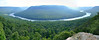 Three photos stitched together to form a panorama of the view from Snooper's Rock. Elevation here is around 1700 feet.