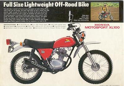 1975 Honda XL100