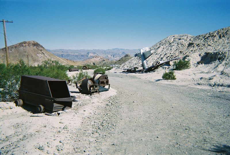 the ghost town was also a movie set, with some interesting stuff laying around