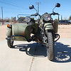 This photo from the front shows the LEAN IN of the bike and the LEAN IN of the sidecar, the bike should be LEANED out and the sidecar wheel should be perpendicular to the ground surface.