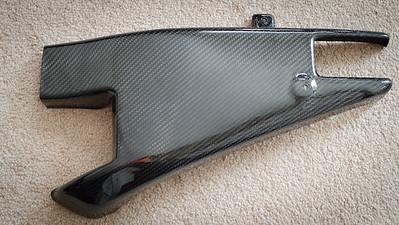 Lacomoto Carbon Fiber Swing Arm Cover (Clutch Side)