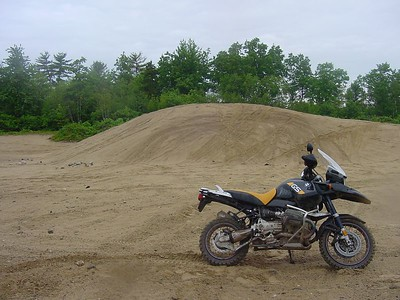 GS in front of a sand dune