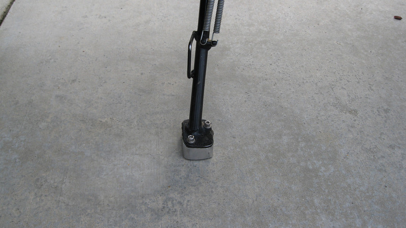 """1"""" foot added to the side stand"""