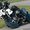 BMW R1200 HP2 MegaMoto on the race circuit / track / trackday