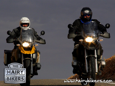 BBC TV's Hairy Bikers Simon (Si) King and David Myers used a number of motorcycles on their travels including the BMW R1200GS