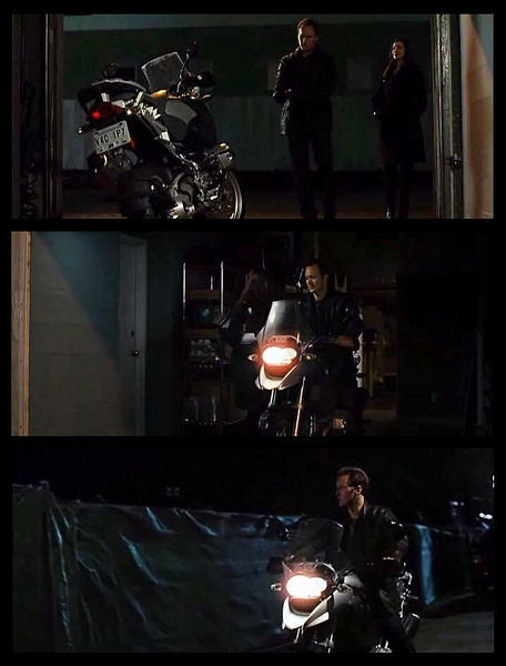 Actor Patrick Wilson takes actress Ann Hathaway for a ride on his BMW R1200GS in the film Passengers<br /> .....pity about the I4 sound track dubbed over most of the GS riding sequence.....why do film makers do that??!! :-(