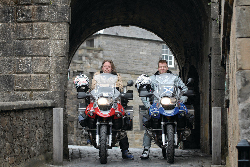 "Well no surprise to see these two here: Ewan McGregor and Charley Boorman<br /> <br /> PHOTOGRAPHER: ROB MCDOUGALL<br /> info@robmcdougall.com<br />  <a href=""http://WWW.ROBMCDOUGALL.COM"">http://WWW.ROBMCDOUGALL.COM</a>"