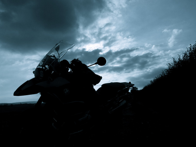 Rather moody R1200GS photograph, r1200gs in silhouette by ukGSer Garfield