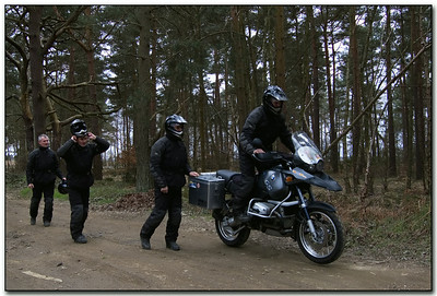 I'm not going to admit that I didn't spot what was going on here the first time I saw this photo - DOH! I just have :-) Derek mounts his R1150GS by GSclubUK'er 'MasterDabber' (aka Derek) - 4 seperate shots activitated by remote control, camera on a tripod... merged together in Photoshop. Great result!