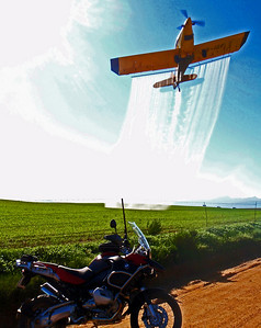 Photo by R1200GSA rider Wayne H - crop spraying in South Africa, taken just outside Riebeeck West – about 50km from Cape Town