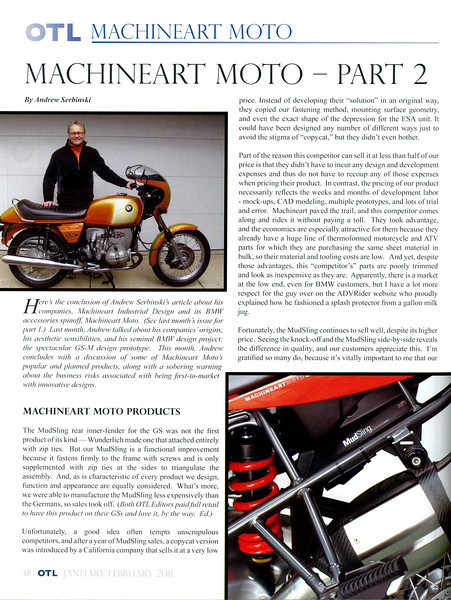"""Custom modified BMW R1200GS, the GS-M by Machineart Moto   <a href=""""http://www.machineartmoto.com"""">http://www.machineartmoto.com</a><br /> BMW RA Club Magazine OTL article January 2011"""