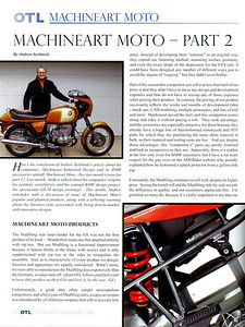 Custom modified BMW R1200GS, the GS-M by Machineart Moto  www.machineartmoto.com BMW RA Club Magazine OTL article January 2011