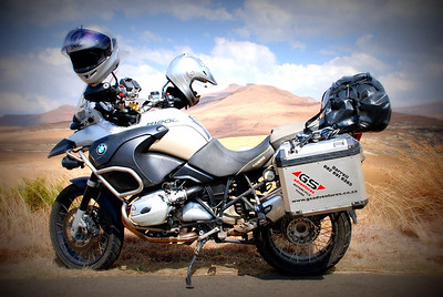 R1200GS African Scenery by Gillian Hine....looks like a studio photo or photoshop job but it isn't!  GS Adventures motorcycle tours's - http://www.facebook.com/GSbike