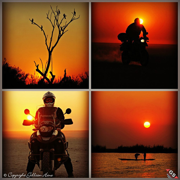 "And another one from Gillian....R1200GS African Sunsets by Gillian Hine.<br /> GS Adventures motorcycle tours's - <a href=""http://www.facebook.com/GSbike"">http://www.facebook.com/GSbike</a>"