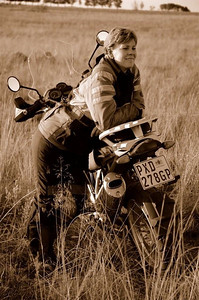 Photo by Gillian Hine -http://www.unicornpictures.ifp3.com Michelle van der Merwe 1200 GSA owner and rider http://www.gsadventures.co.za