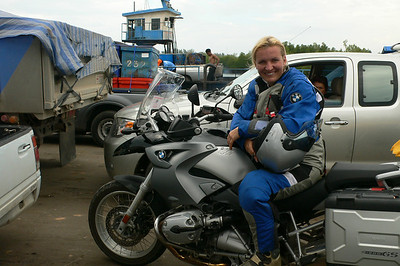 "R1200GS owner Hana. Hana is a tour guide for www.motoadventours.com in Spain.........""yes, I know, I´ve got the best job in the world......Everytime I sit on the bike and off we go, I realize again and again how lucky I am!"""