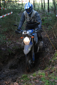 Dutch HP2 rider Els in a hole! :-)