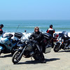 """Ex UK girl, who lives in France takes her R1200GS to America - photo, Brigid, taken on the Pacific Coast Highway in 2006. <i>We flew our bikes into Toronto and were on the road for about 5 weeks: Toronto to Chicago; Chicago to LA (Route 66); then back east via the PCH, Yosemite, ET Hwy, Bryce Canyon UT, Jackson WY, Yellowstone, Cody, Badlands ND, Devil's Tower (remember """"Close Encounters""""?), Sturgis, Deadwood, Mt. Rushmore, Crazy Horse ... then north around Lake Superior, and back to Toronto for a bit of R&R before flying home.</i>"""