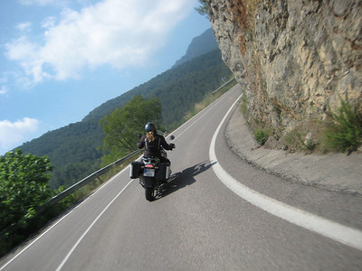 Photo2: German born (Trier, Mosel) Ellen, living in Valencia, Spain and her R1200GS - between Eslida and Chovar in Valencia June 2011