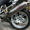 BMW R1200GS R1200 GS Remus Revolution titanium exhaust can silencer and Ohlins suspension