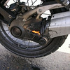 """BMW R1200GS final drive fire! September 2006 - Only case I've heard of but all the same....scary!!<br /> ADVRider.com member R1200GSA. Read the thread on the forum: <a href=""""http://www.advrider.com/forums/showthread.php?t=167287&page=1"""">http://www.advrider.com/forums/showthread.php?t=167287&page=1</a><br /> Total Miles on bike, 11,300. All scheduled Services done as prescribed in Owners Manual.<br /> 65 MPH +/- 5 MPH - I felt it a rumble in the pegs about 80 miles previous. Pulled over put bike on Center Stand, no leaks, no play in rear wheel when grabbed and try to wiggle at top and bottom & left and right. Hit the road again and then the speedo went about 10 miles later. I was trying to get to Rock Springs to where I at least had modern conviences prior to tearing into it. It made to 22 miles north of there before a car pulled up beside and flagged me over."""
