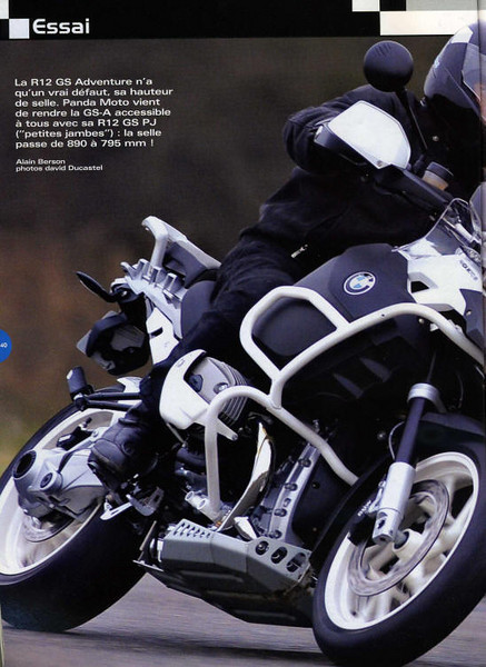 "Article Jan/Feb 2009: R1200GS-A ""PJ"" featuring the Panda Moto 89 BMW R1200GS ""PJ"" Adventure  http://www.pandamoto.fr"