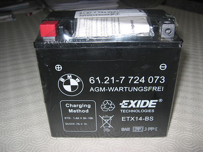 BMW R1200GS replacement motorcycle battery Feb 2010 See: R1200GS Battery Care & Info   http://www.motorcycleinfo.co.uk/index.cfm?fa=contentGeneric.nvxszdkebklxuaer&pageId=717077