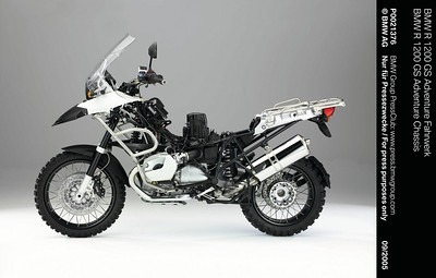 2005 BMW R1200GS Adventure rolling chasis www.press.bmwgroup.com/