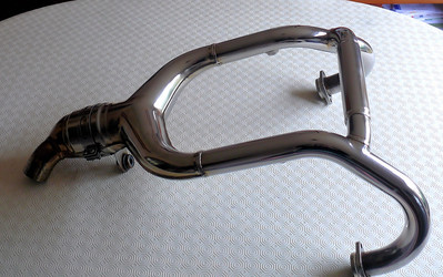 Standard OE BMW R1200GS exhaust hearders (down pipes) from a 2005 bike