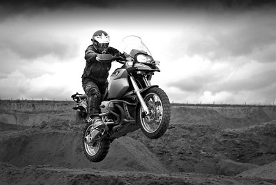"ukGSer Mark G ""Earthmover"" checks out a quarry near Kelsall, Cheshire - very cool R1200GS jump shot! Photos COPYRIGHT: Nicolette (Nic) Wells www.nicolettewellsphotography.com"