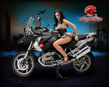 More R1200GS girl / glamour model from: www.scigacz.pl