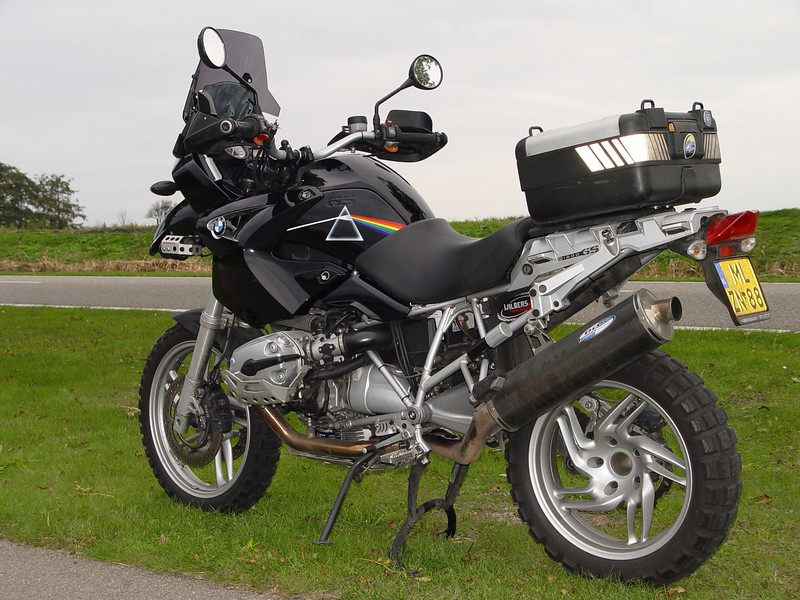 "Ton's (aka ECM) modified / customised 2004 BMW R1200GS <i>I like this bike and I like music, especialy Pink Floyd and their timeless album Dark Side of the Moon....&quot;</i> The full story of Ton's custom Pink Floyd R1200GS <b><a target=""_blank"" href=""http://andyw-inuk.smugmug.com/Motorcycles/R1200GS-BMW-Motorcycle-Photo/R1200GS-Pink-Floyd-Special"">HERE</a></b>"