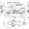 BMW R1200GS motorcycle 2004 - 2007 dimensions / measurements / stats