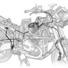 BMW R1200GS Brake-line routing with BMW Motorrad Integral ABS