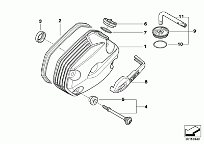 R1200GS cylinder head cover diagram