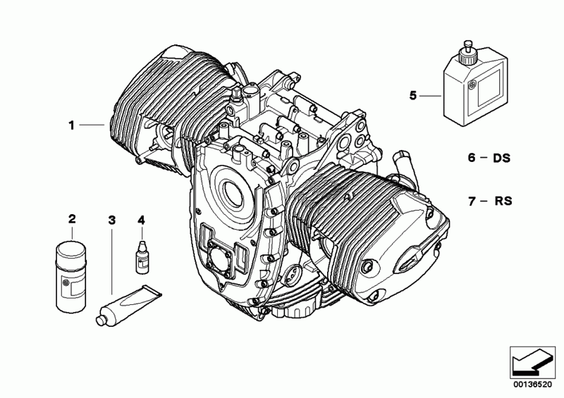 BMW R1200GS boxer engine diagram