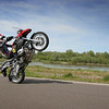 "R1200GS wheelie - I think the 'crud catcher' makes a good warning device telling the rider not to pull up any more!<br /> From the Polish motorcycle website:  <a href=""http://www.scigacz.pl"">http://www.scigacz.pl</a>"